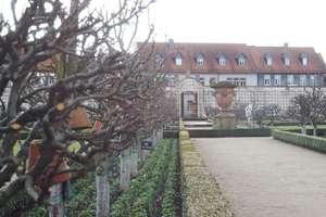 Seligenstadt - Blick durch den Klostergarten