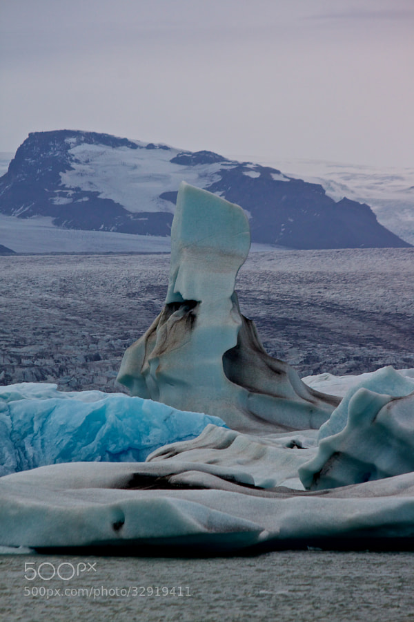 the blue ice - glacierlake Jökulsárlón by Benjamin (leckermojito)) on 500px.com